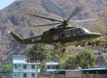 दार्चुलाको व्याँस र दुहुँमा हेलिकप्टरबाट खाद्यान्न ढुवानी गरिँदै