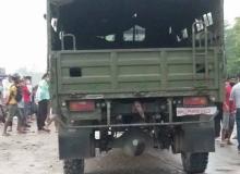 कैलालीमा सेनाको गाडीले ठक्कर दिएकी किशोरीको मृत्यु