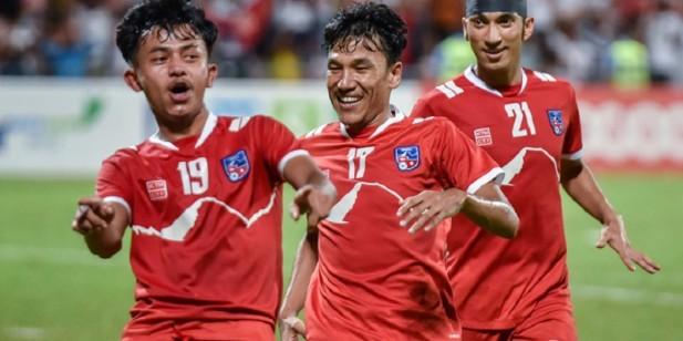 साफ च्याम्पियनसिप फुटबलमा नेपालको लगातार दोस्रो जित : श्रीलङ्का ३–२ ले पराजित